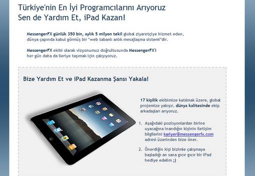 Bana Adayı Getir, İşe Alırsam iPad Senindir