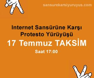 İnternet Sansürüne Karşı Protesto Yürüyüşü
