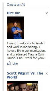 hire me facebook