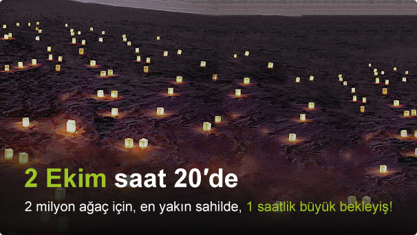 2 milyon ağaç için, 2 Ekim, Saat 20:00